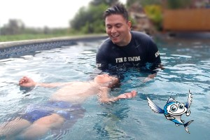 Fin 2 Swim Instructor with student